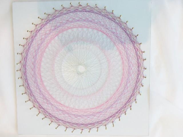 糸かけ曼荼羅完成・お客様の作品