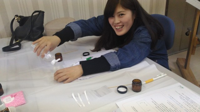 喜多方市勤労青少年ホームアロマ教室