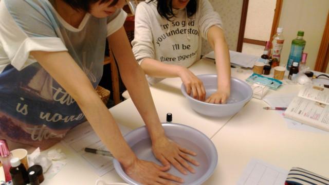 アロマテラピーインストラクター養成講座 手浴法