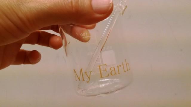 My Earth ロゴ入りビーカー